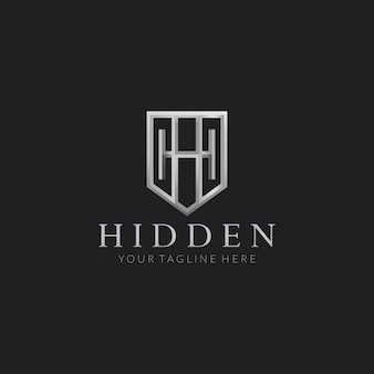 Hidden h vector logo design