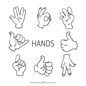 High five mains vecteurs signe