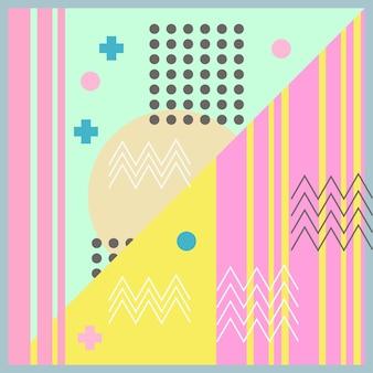 Hijab motif géométrique abstrait style memphis