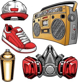 Hip hop et éléments urbains