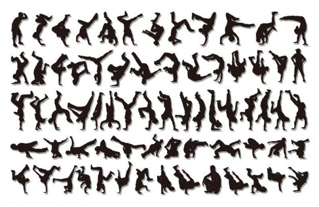 Hiphop silhouettes