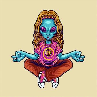 Hippie alien yoga