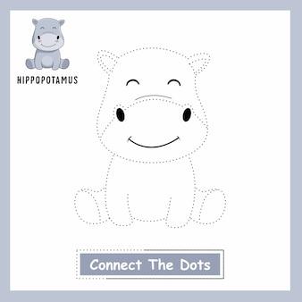 Hippo connect the dots hippopotamus animaux