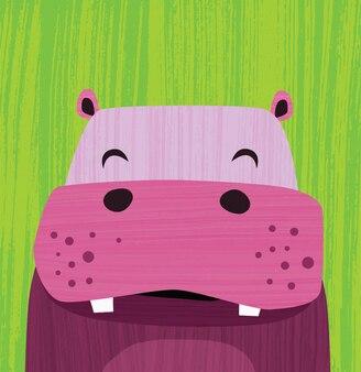 Hippopotame rose