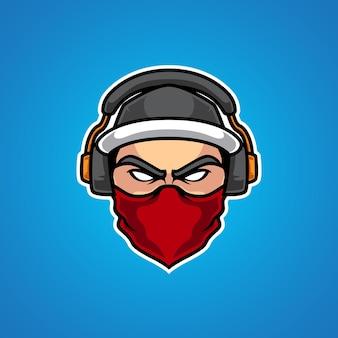 Hipster gamers e sport mascotte logo