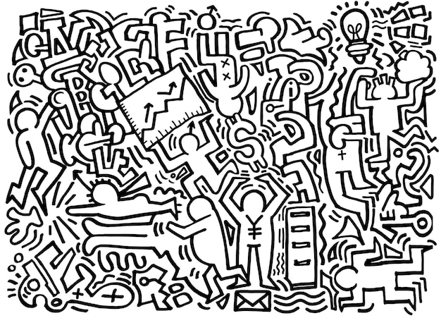 Hipster hand drawn crazy doodle affaires