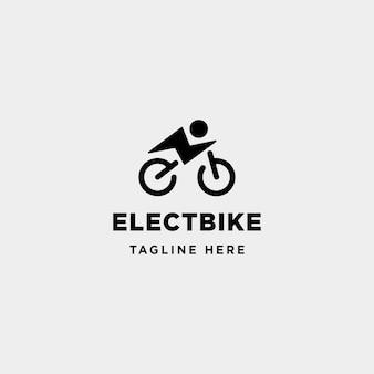 Hipster vélo électrique logo design vecteur puissance véhicule icône symbole signe isolé