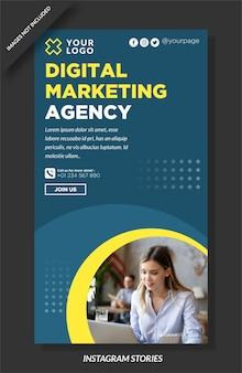 Histoire instagram de l'agence de marketing numérique