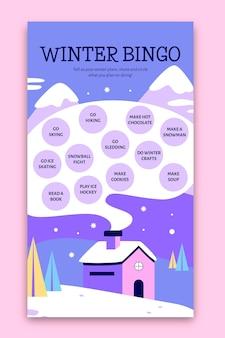 Histoire instagram de bingo d'hiver créatif