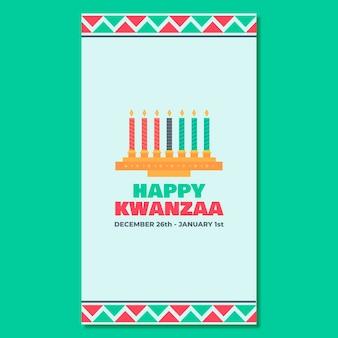 Histoire instagram géométrique de kwanzaa