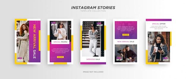 Histoire instagram de mode sur les réseaux sociaux