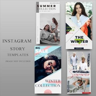 Histoire instagram pour modèle de média social