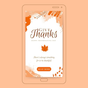 Histoire instagram de thanksgiving