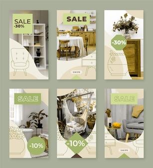 Histoire instagram de vente de meubles