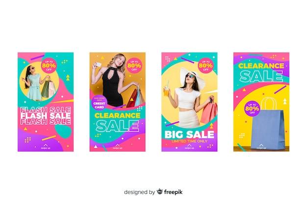 Histoires abstraites colorées de vente abstraite