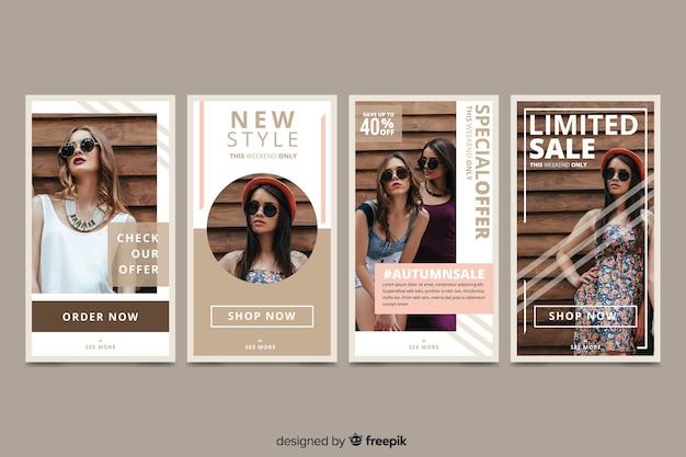 Histoires abstraites de vente de mode