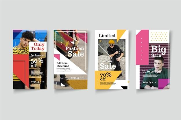 Histoires colorées de style vente instagram