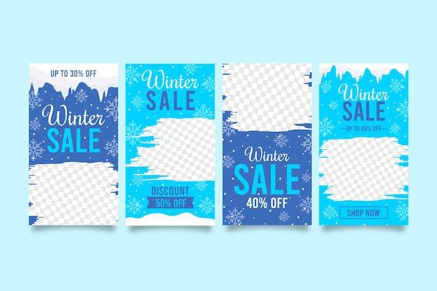 Histoires créatives de soldes d'hiver