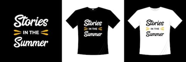 Histoires dans la conception de t-shirt typographie été