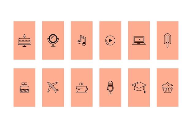 Histoires d'icônes instagram