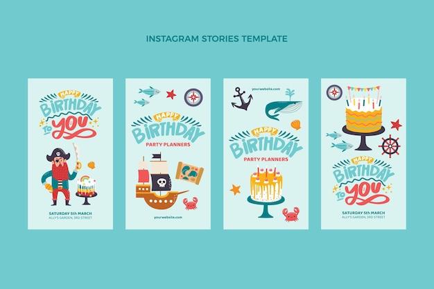 Histoires instagram d'anniversaire enfantines dessinées à la main