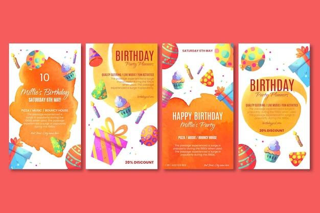 Histoires instagram d'anniversaire d'enfants