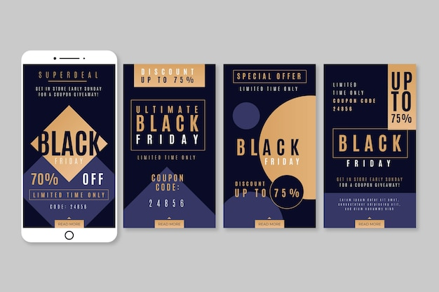 Histoires instagram de black friday