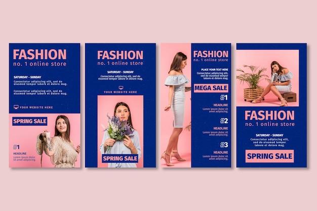 Histoires instagram de la boutique en ligne