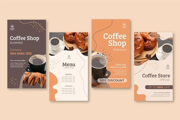 Histoires instagram de café