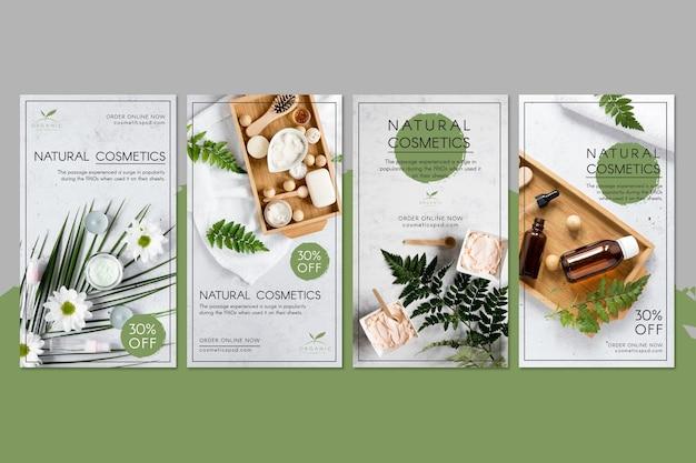 Histoires instagram de cosmétiques naturels