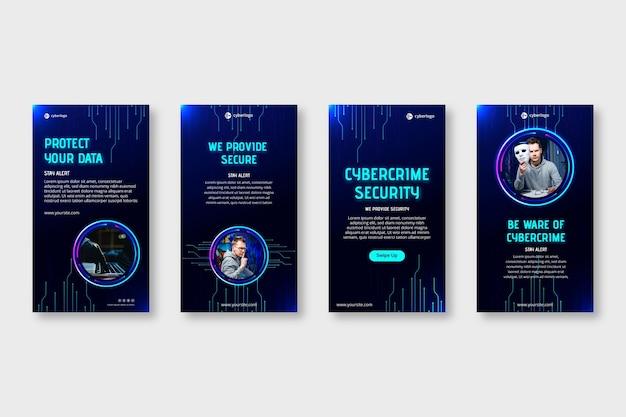 Histoires instagram sur la cybersécurité