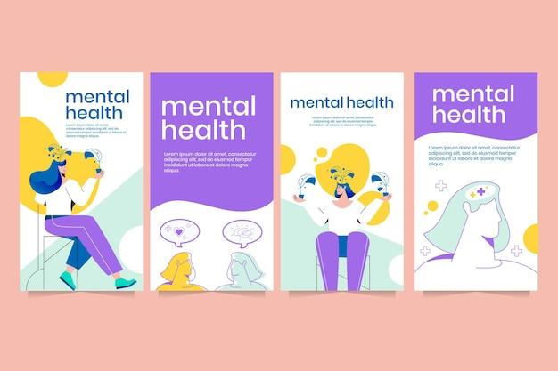 Histoires instagram détaillées sur la santé mentale