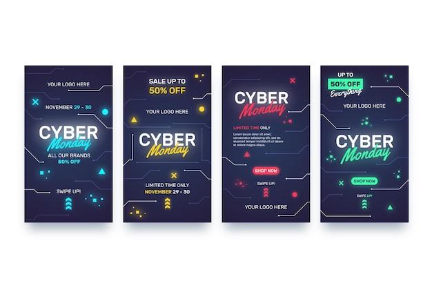 Histoires instagram du cyber monday