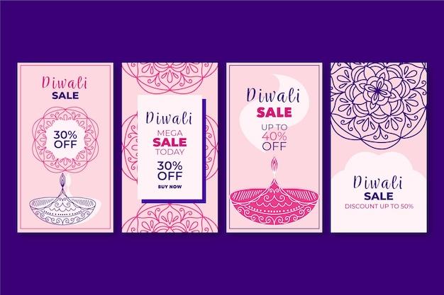 Histoires instagram du festival de diwali
