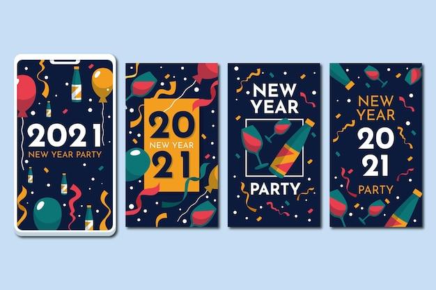 Histoires instagram du nouvel an 2021 avec des lunettes