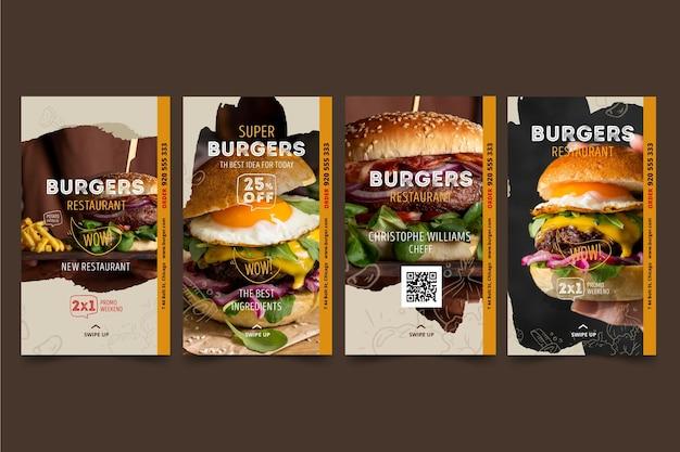 Histoires instagram du restaurant burgers