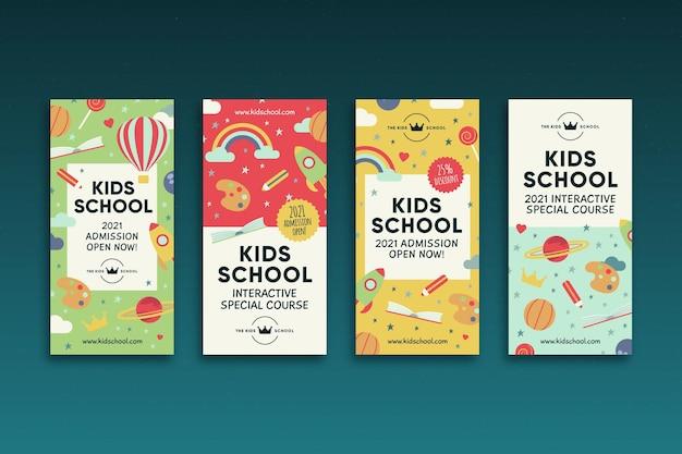 Histoires instagram d'école pour enfants