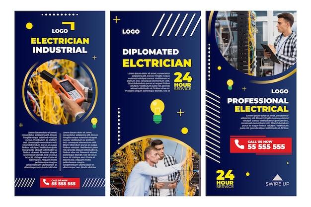 Histoires instagram d'électricien