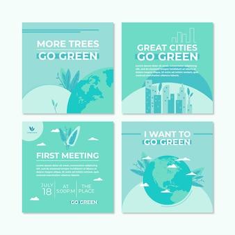Histoires instagram sur l'environnement