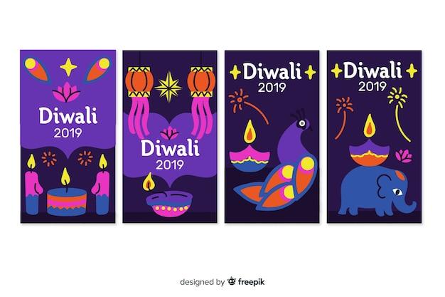 Histoires instagram fête de diwali
