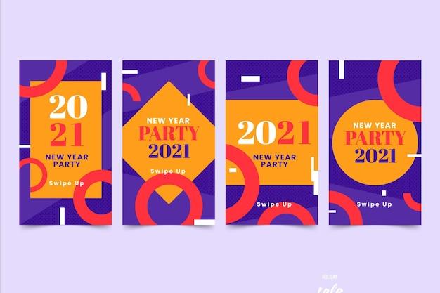 Histoires instagram de fête du nouvel an 2021