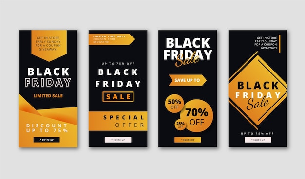 Histoires instagram gradient black friday