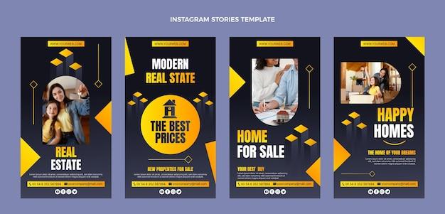 Histoires instagram de l'immobilier dégradé