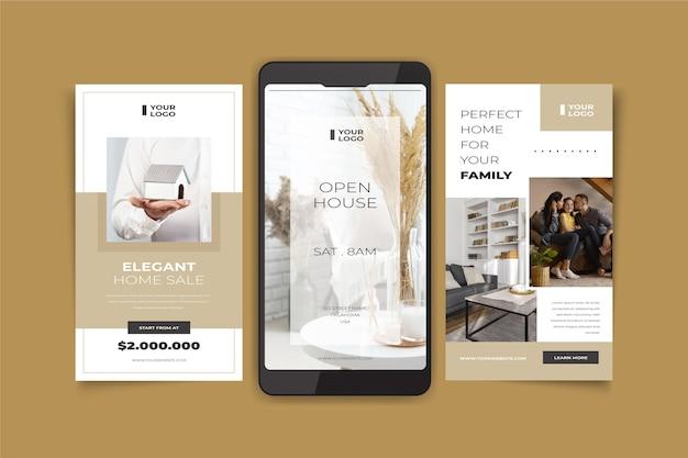 Histoires instagram de l'immobilier plat