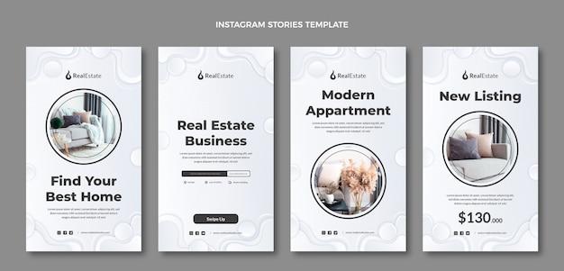 Histoires instagram de l'immobilier à texture dégradée