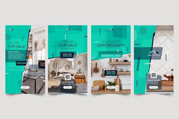 Histoires instagram de l'immobilier