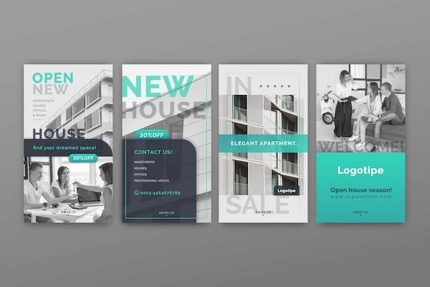Histoires instagram immobilières