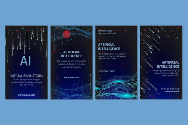 Histoires instagram sur l'intelligence artificielle