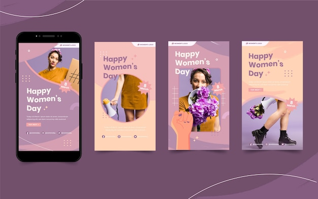 Histoires instagram de la journée internationale de la femme