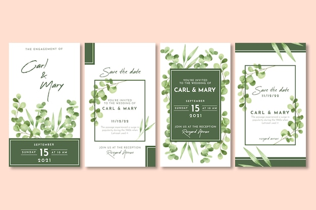 Histoires instagram de mariage floral
